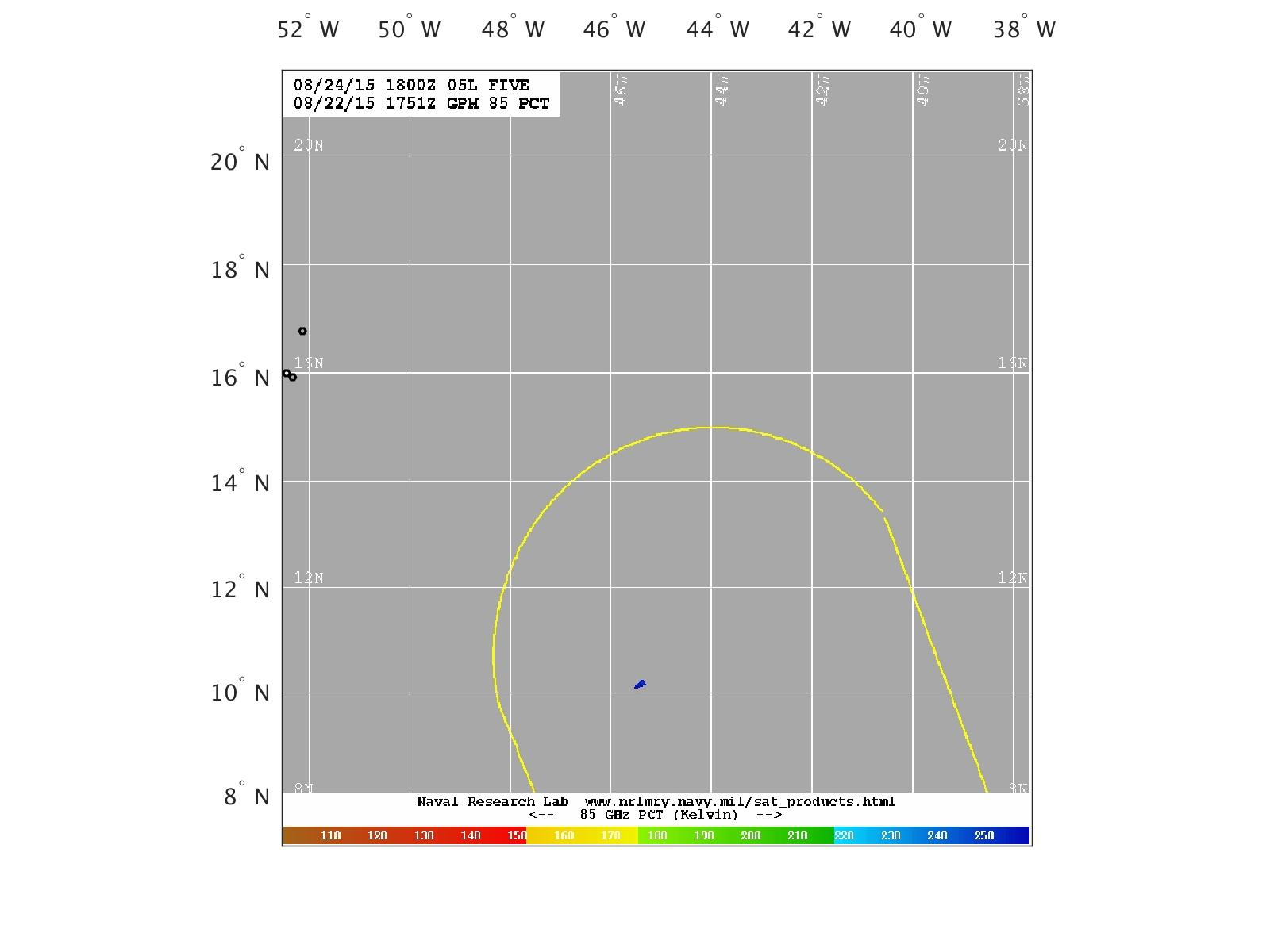 GMI 89 GHz PCT Satellite Overlay