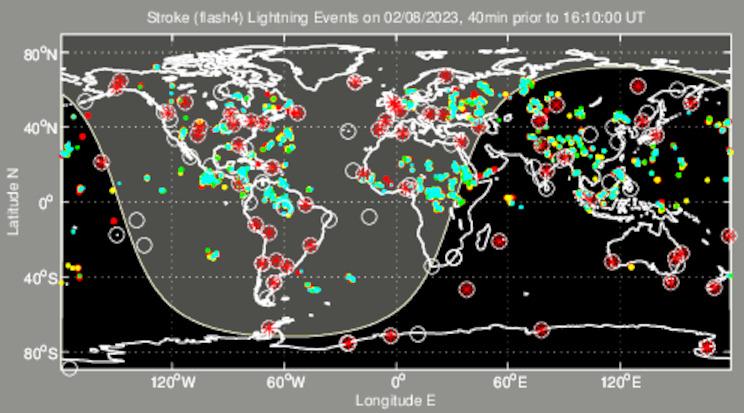 Onweer inslagen ww bij meteotines